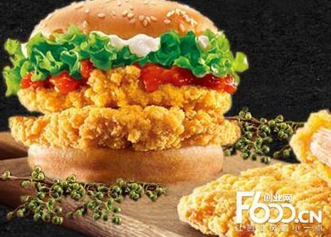 壹点壹炸鸡汉堡图片