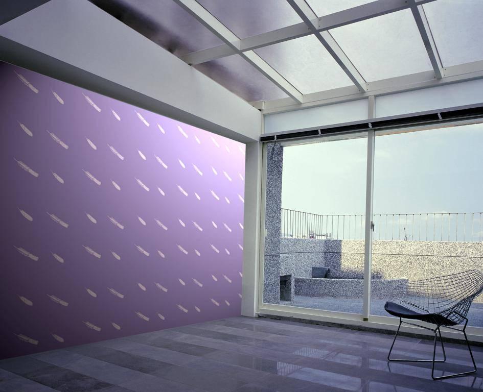 淡紫色臥室墻面效果圖