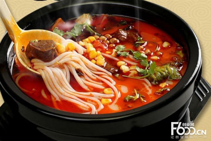 炸舌泡椒牛肉米线