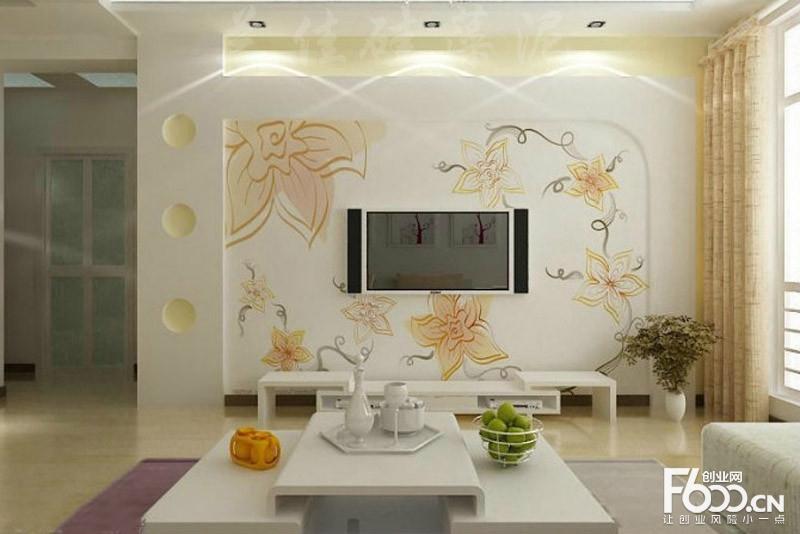 硅藻泥背景墙装修效果图