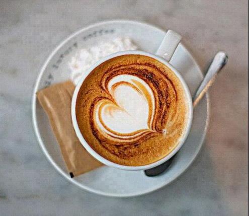 浮水印咖啡