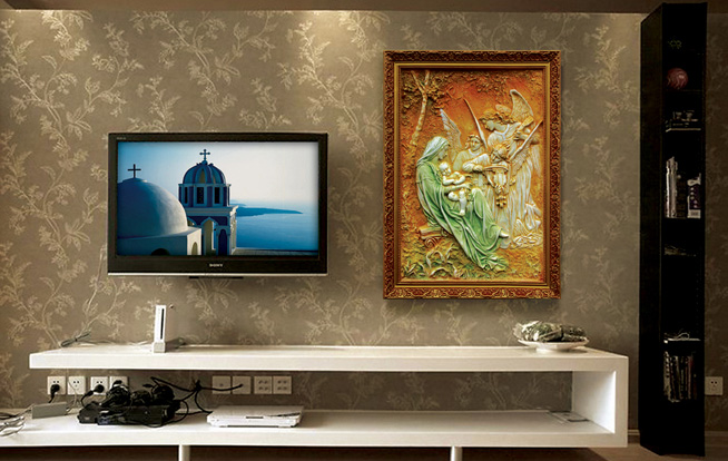 格思特魔块彩雕背景墙加盟