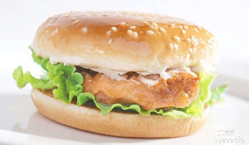 蟹老板炸鸡汉堡