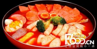 宇正韩式年糕火锅图片