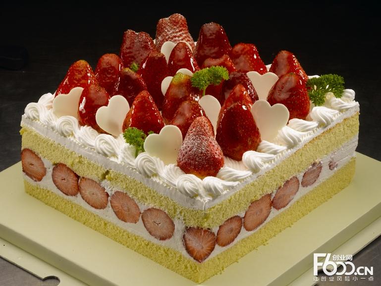 米旗蛋糕图片