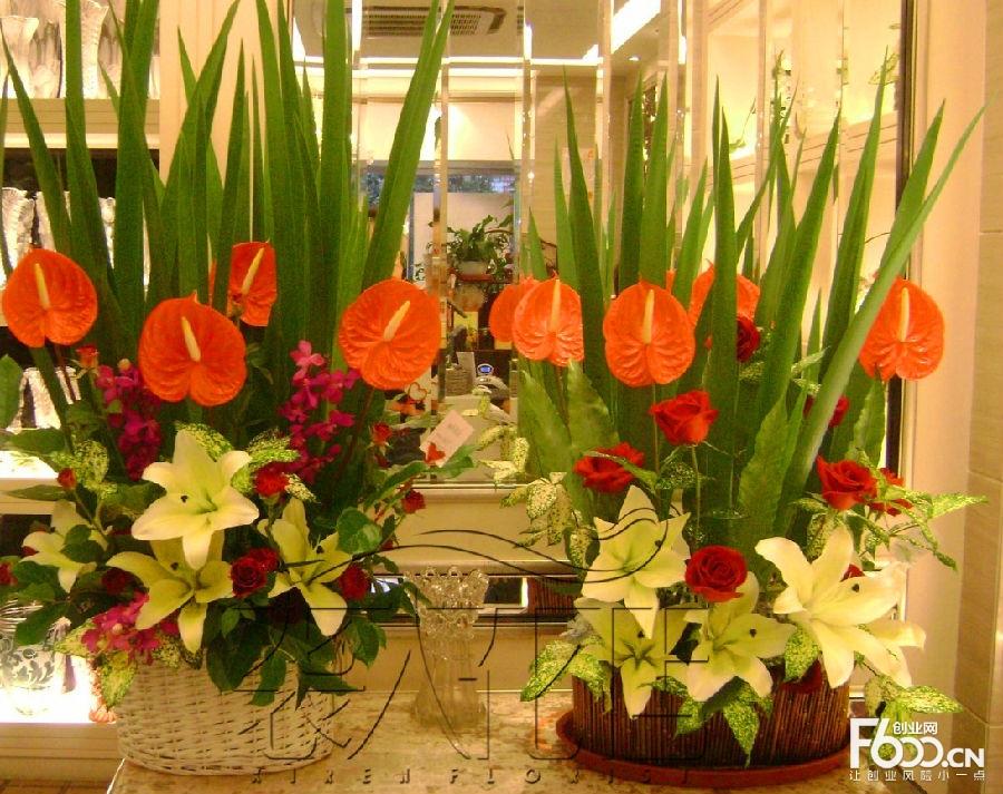 花店之一,不仅是经营鲜花,还从事仿真花的销售与环境花艺设计服务.