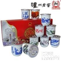 泸州老窖套装瓷杯45度125ml*10瓶