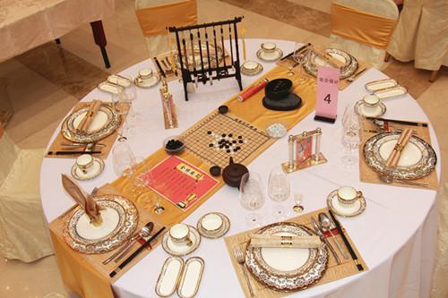 中餐宴会主题摆台设计图片